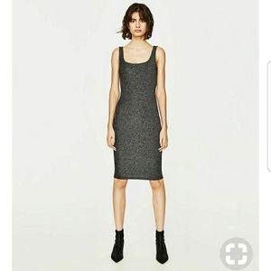 ZARA Shiny Midi dress